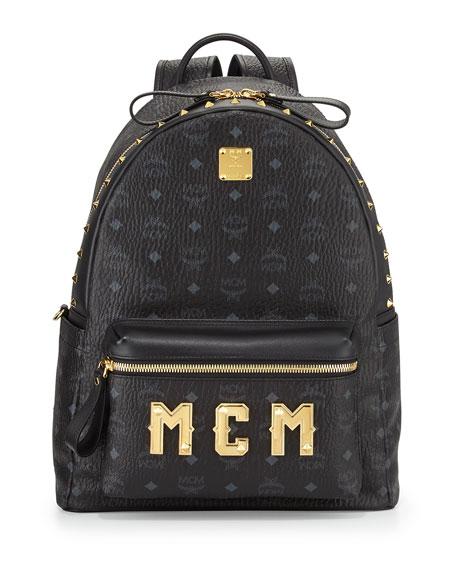 Stark M Collection Studded Backpack, Black