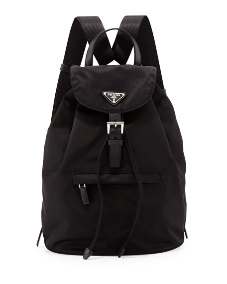prada vela medium backpack black nero neiman marcus