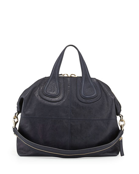 Nightingale Medium Leather Satchel Bag, Blue