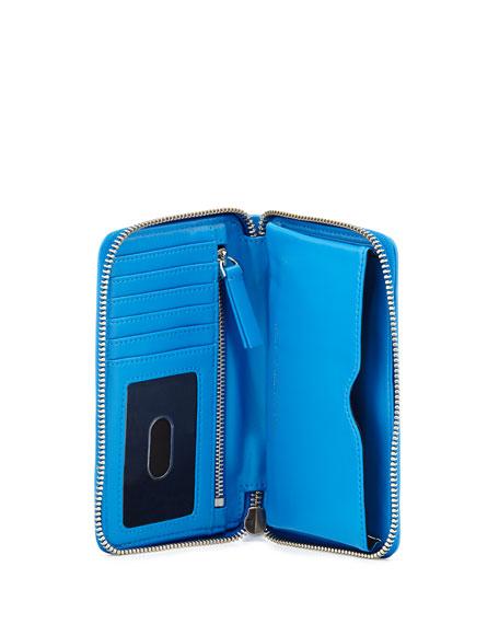 Techno Mesh Wingman Wristlet Wallet, Electric Blue