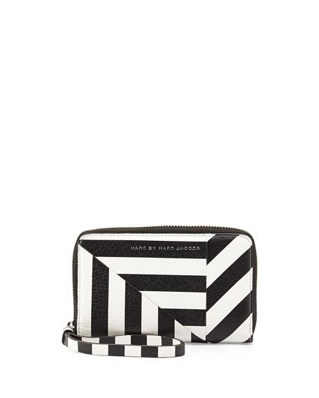Turn Around Striped Wingman Zip Wallet