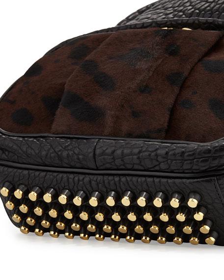 Dumbo Calf Hair Backpack, Leopard Haze