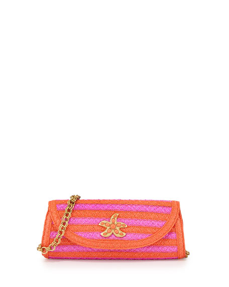 Paradise Woven Clutch Bag, Torpedo