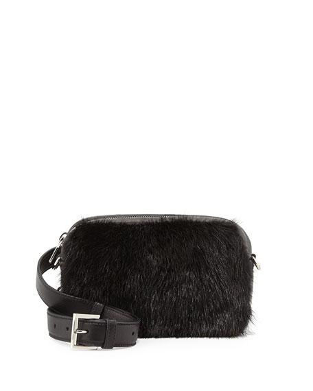 Prada Nappa Bomber & Mink Fur Belt Bag,