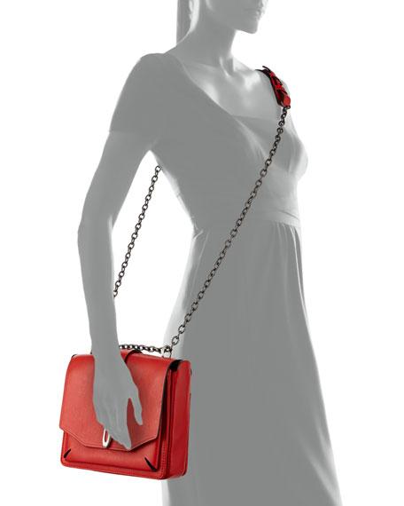 Enfield Mini Envelope Flap Top Shoulder Bag, Royal Red