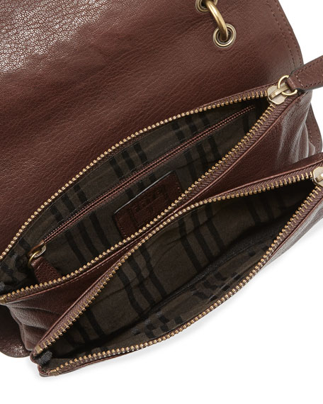 Jesse Stud-Detail Crossbody Bag, Dark Brown