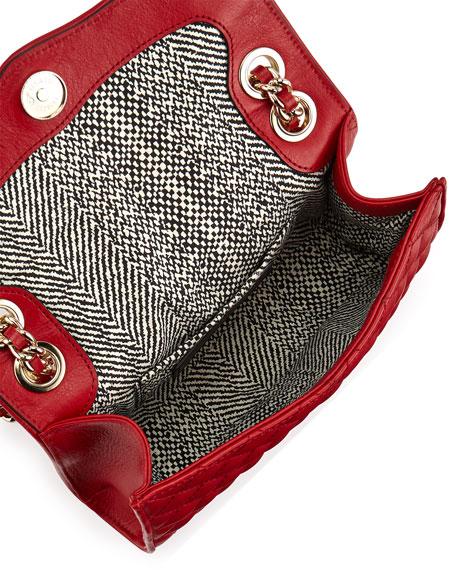 Quilted Affair Mini Shoulder Bag, Crimson