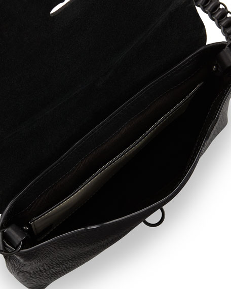 Enfield Calf Hair Flap Crossbody Bag, Leopard