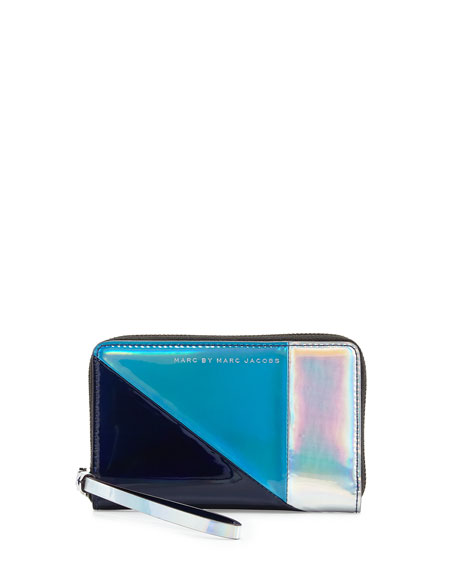 MARC by Marc Jacobs Space Techno Colorblock Wingman Wallet