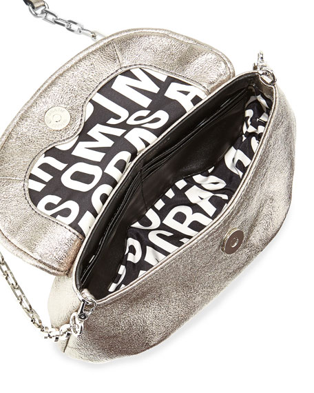 Classic Q Metallic Karlie Crossbody Bag, Gunmetal