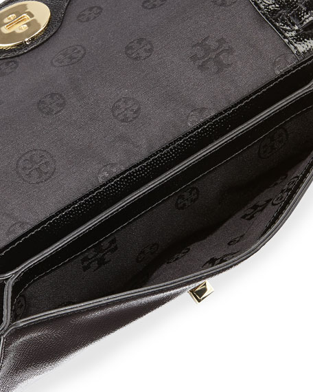 Adalyn Pebbled Crossbody Clutch Bag, Black