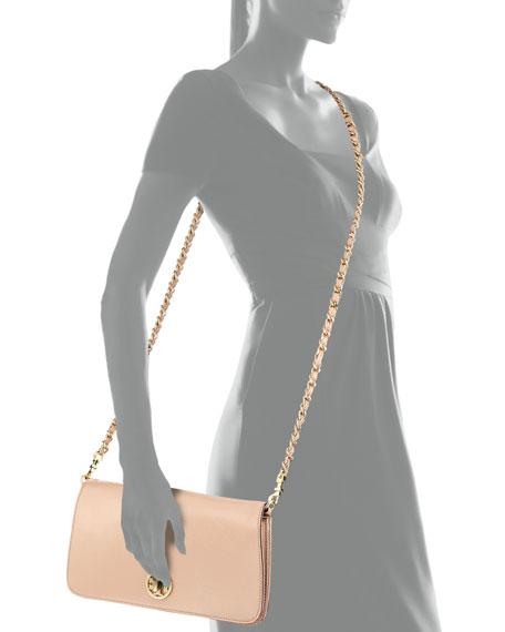 Adalyn Pebbled Crossbody Clutch Bag, Light Oak