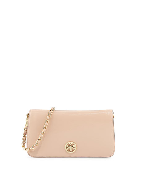 Adalyn Pebbled Crossbody Clutch Bag, Light Oak