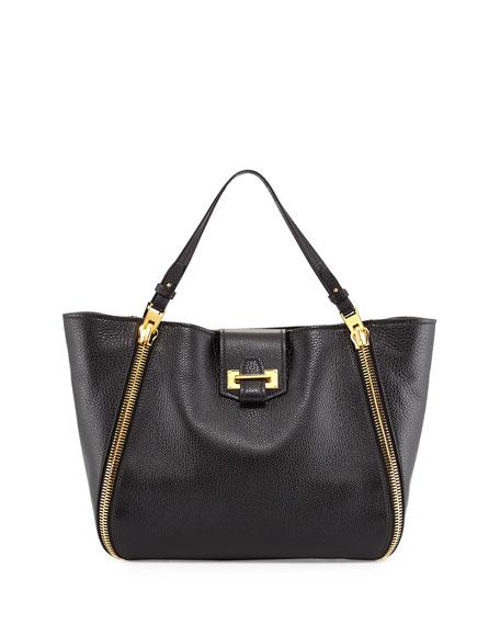 TOM FORD Sedgwick Medium Zip Tote Bag, Black