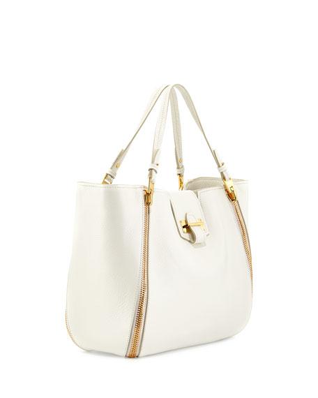Sedgwick Medium Zip Tote Bag, White