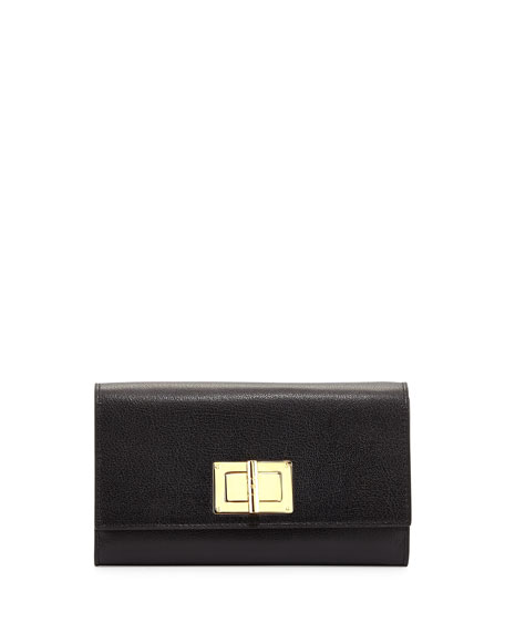 TOM FORD Natalia Turn-Lock Wallet-on-Chain, Black