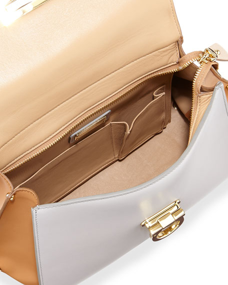 Sofia Colorblock Leather Satchel Bag