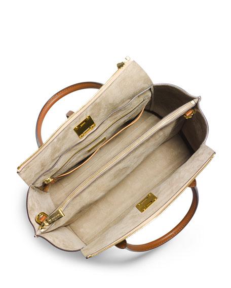 Miranda Large Colorblock Tote Bag, Peanut