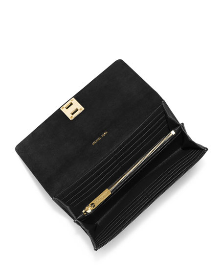 c5bf5fc00d52 Michael Kors Collection Miranda Continental Wallet, Black
