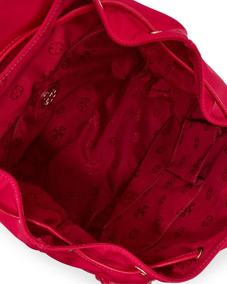 Marion Nylon Backpack, Carnation Red