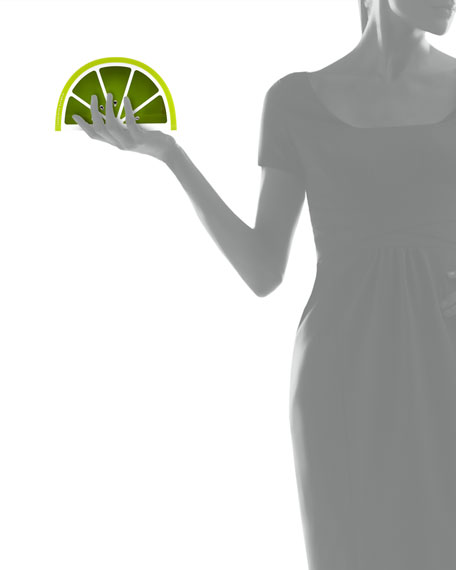 Charlotte Olympia Lime-Shape Perspex Clutch Bag