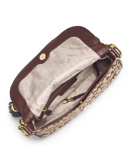 Jet Set Convertible Shoulder Bag with Tassel, Beige/Ebony/Mocha