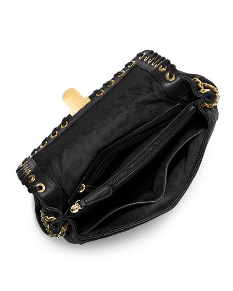 3341c023399b MICHAEL Michael Kors Hippie Grommet Large Sloan Shoulder Bag, Black