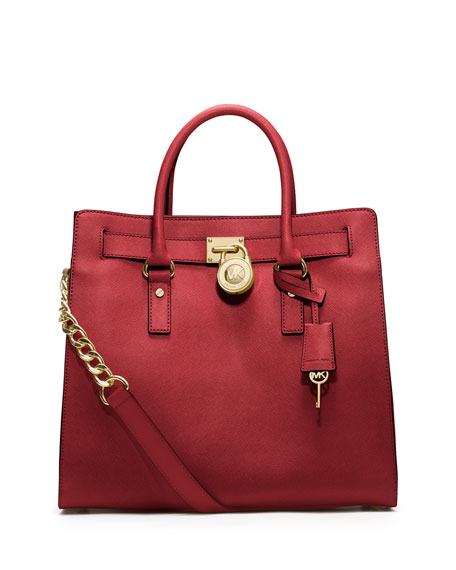 Hamilton Large Saffiano Tote Bag, Red
