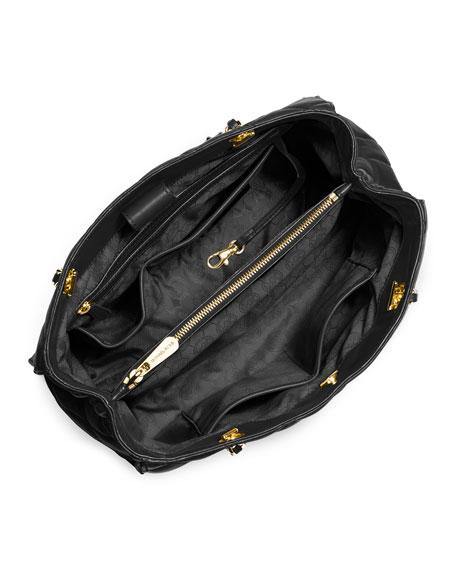 Susannah Large Quilted Tote Bag, Black