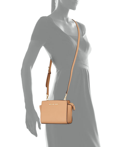 Selma Mini Messenger Bag, Suntan
