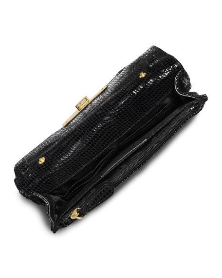 89a7c4f3347e MICHAEL Michael Kors Sloan Quilted Snake-Print Crossbody Bag, Black