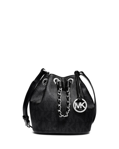 Frankie Drawstring Crossbody Bag, Black