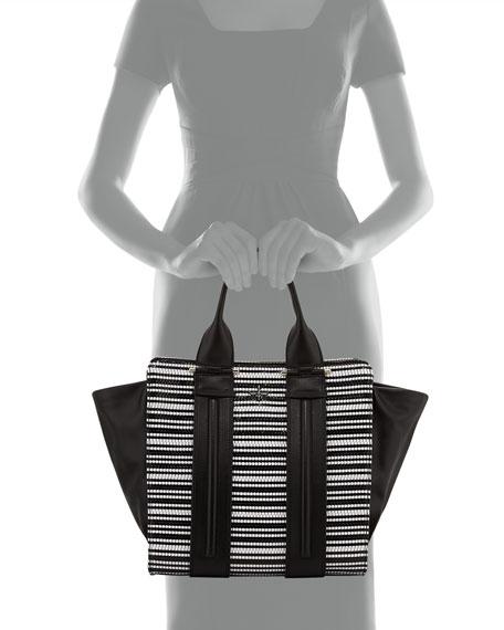 400e19cb4b Pour la Victoire Two-Tone Woven Tote Bag