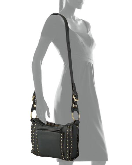Pamela Studded Crossbody Bag, Forest