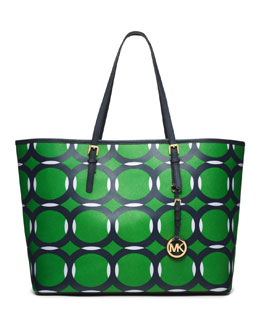 MICHAEL Michael Kors  Medium Jet Set Deco Travel Tote