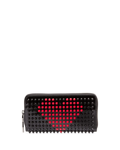 Panettone Valentines Wallet, Black/Fuchsia