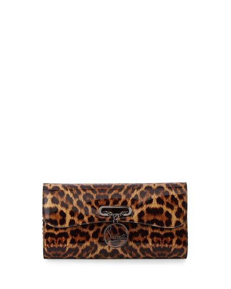 Riviera Leopard-Print Clutch Bag, Brown