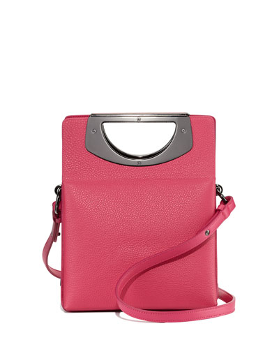 Mini Passage Leather Crossbody Bag, Pink