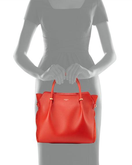 Marche Medium Leather Satchel Bag, Red