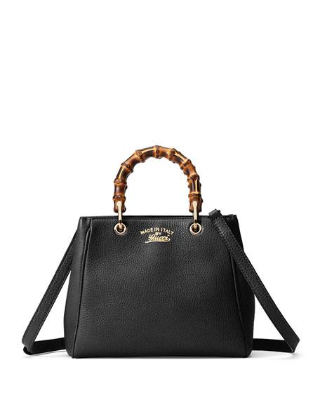 Gucci Bamboo Shopper Mini Leather Top Handle Bag,