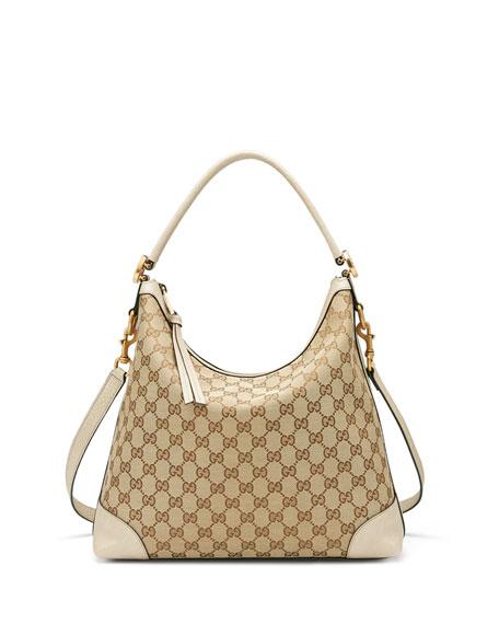 Gucci Original GG Canvas Hobo Bag, Brown/Beige