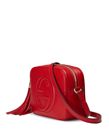 Soho Small Shoulder Bag, Red