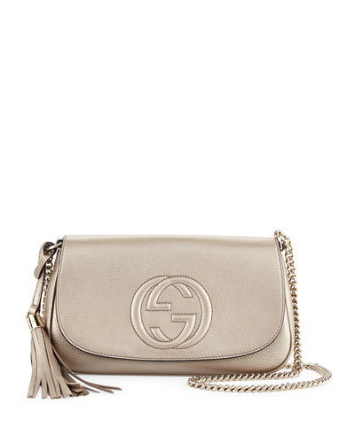 Gucci Soho Metallic Crossbody Bag, Gold