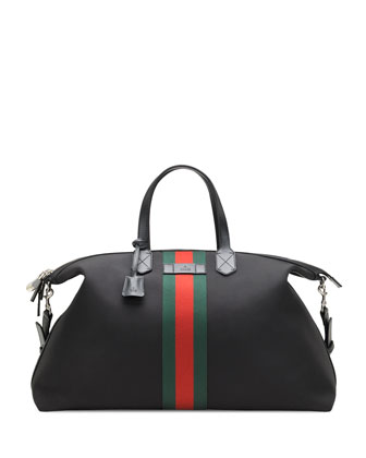 fe6d6cc99 Gucci Techno Canvas Duffel Carry-On Bag, Black | Neiman Marcus