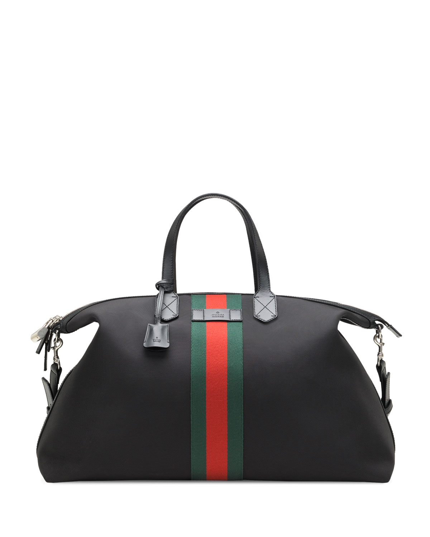 fb1b3e6570c8 Gucci Techno Canvas Duffel Carry-On Bag, Black | Neiman Marcus