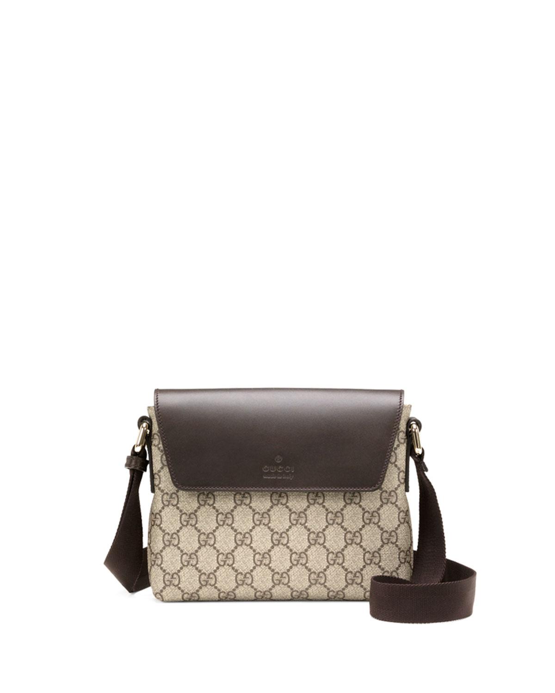 f482f60d1e1d Gucci GG Supreme Canvas Messenger Bag, Brown | Neiman Marcus