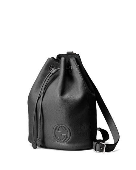 ea4896ddb77 Gucci Soho Leather Drawstring Backpack