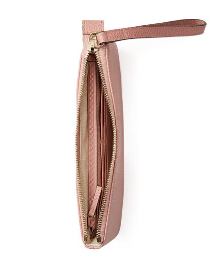 Gucci Swing Leather Wristlet, Light Pink