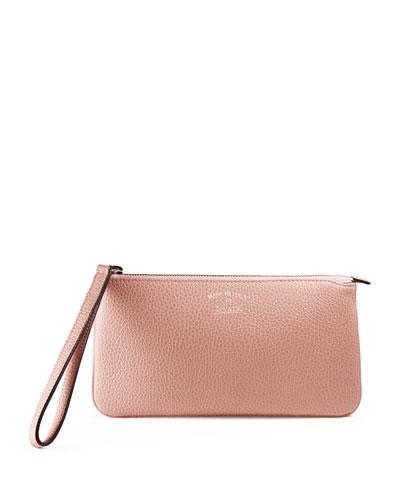 Swing Leather Wristlet, Light Pink