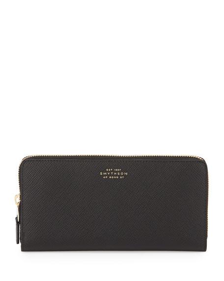 Panama Large Zip Wallet, Black